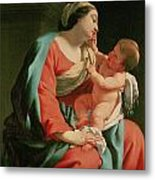 Madonna And Child Metal Print by Simon Vouet