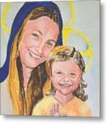 Madonna And Child Metal Print by Susan  Clark
