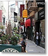Maiden Lane San Francisco California - 5d19376 Metal Print by Wingsdomain Art and Photography