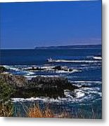 Maine At West Quoddy Metal Print by Skip Willits