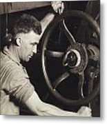 Making Auto Tires Metal Print by LW Hine
