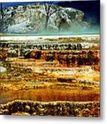 Mammoth Terrace - Yellowstone Metal Print by Ellen Heaverlo