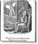 Man In The Moon, 1833 Metal Print by Granger