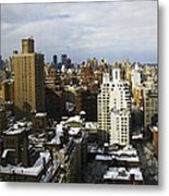 Manhattan View On A Winter Day Metal Print by Madeline Ellis