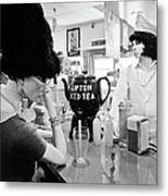 Mannequins At Peggy Sues 50's Diner Metal Print by Julie Niemela