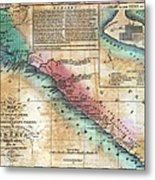 Map Of The West Coast Of Africa Metal Print by Everett