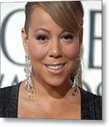 Mariah Carey Wearing Chopard Earrings Metal Print by Everett