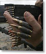 Marines Prepare The M-240g Medium Metal Print by Stocktrek Images