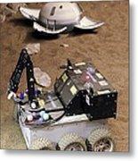 Mars Rover Testing Metal Print by Ria Novosti