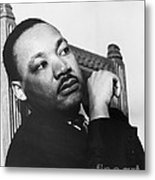 Martin Luther King, Jr Metal Print by Photo Researchers