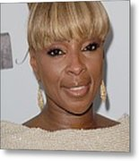 Mary J Blige At Arrivals For 2011 Metal Print by Everett
