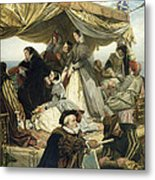 Mary Stuart's Farewell To France Metal Print by Henry Nelson O Neil
