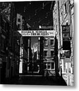 Mathew Street In Liverpool City Centre Birthplace Of The Beatles Merseyside England Uk Metal Print by Joe Fox