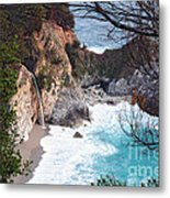 Mcway Falls In Spring Metal Print by Tonia Noelle