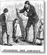 Measuring Children, 1876 Metal Print by Granger