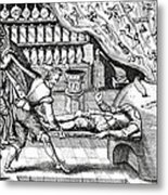 Medical Purging, Satirical Artwork Metal Print by