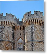 Medieval Fortress Of Rhodes. Metal Print by Fernando Barozza