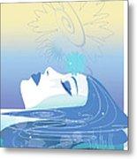 Meditation Metal Print by Lisa Henderling