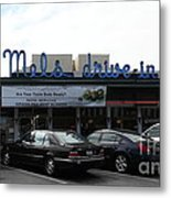 Mel's Drive-in Diner In San Francisco - 5d18013 Metal Print by Wingsdomain Art and Photography