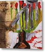 Menorah Metal Print by Iris Gill