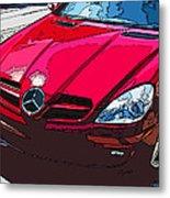 Mercedes Benz Slk Nose Study Metal Print by Samuel Sheats