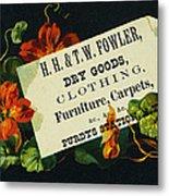 Merchant Trade Card, C1880 Metal Print by Granger