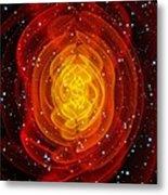 Merged Black Holes Metal Print by Chris Henzenasa