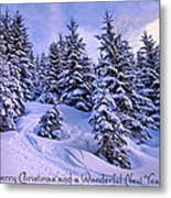 Merry Christmas And A Wonderful New Year Metal Print by Sabine Jacobs