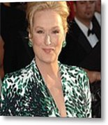 Meryl Streep At Arrivals For 16th Metal Print by Everett