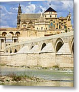 Mezquita Cathedral And Roman Bridge In Cordoba Metal Print by Artur Bogacki