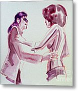Michael Jackson - Just Can't Stop Loving You Metal Print by Hitomi Osanai