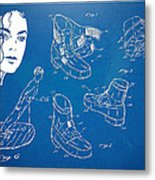 Michael Jackson Anti-gravity Shoe Patent Artwork Metal Print by Nikki Marie Smith