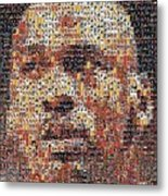 Michael Jordan Card Mosaic 3 Metal Print by Paul Van Scott