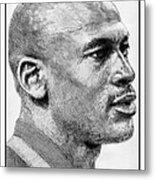 Michael Jordan In 1990 Metal Print by J McCombie