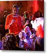 Michelle Obama Dancing With Children Metal Print by Everett