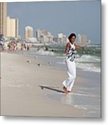 Michelle Obama Walks Barefoot Metal Print by Everett