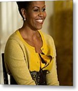 Michelle Obama Wearing A J. Crew Metal Print by Everett