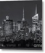 Mid-town Manhattan Twilight II Metal Print by Clarence Holmes