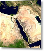Middle East Metal Print by Nasa