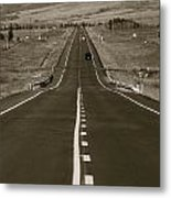 Middle Of The Road Metal Print by David  Hubbs