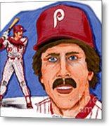 Mike Schmidt-color Metal Print by Chris  DelVecchio