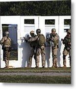 Military Reserve Members Prepare Metal Print by Michael Wood