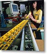 Mindstorm Programmable Lego Brick Manufacture Metal Print by Volker Steger