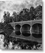 Mirror Bridge Metal Print by Peter Chilelli