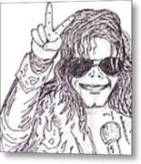 MJ Metal Print by Rajan V