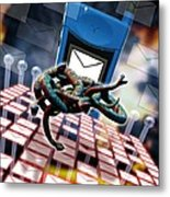 Mobile Telephone Hate Mail Metal Print by Victor Habbick Visions