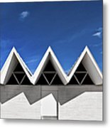 Modern Building Roofing Metal Print by Eddy Joaquim