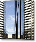 Modern High Rise Office Buildings Metal Print by Roberto Westbrook