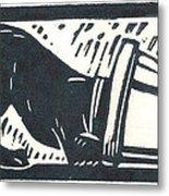 Molly Vs. Bucket Metal Print by Jennifer Harper