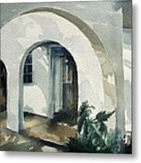 Mombasa Archway Metal Print by Stephanie Aarons
